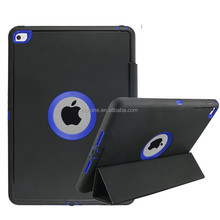 Hot Selling Business Smart Wake/Sleep Cover case for Ipad Air 2 Auto-sleep TPU+PC+Leather case for Ipad Air 2