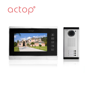 China factory ACTOP wired video door phone for 3 apartments