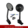 J186 Black Quick Release Mirror Relocation Kit for jeep wrangler jk TJ LJ