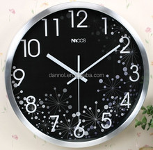 12 inch metal wall decor black clock home decoration pieces making