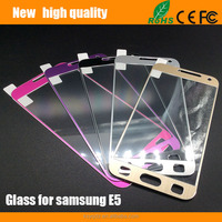 2.5D Titanium alloy brushed metal Tempered Glass Screen Protector for Samsung E5