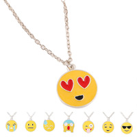 2016 Wholesale Handmake Fashion Stainless Steel Pendant Emoji Necklace Jewelry Manufacturer China