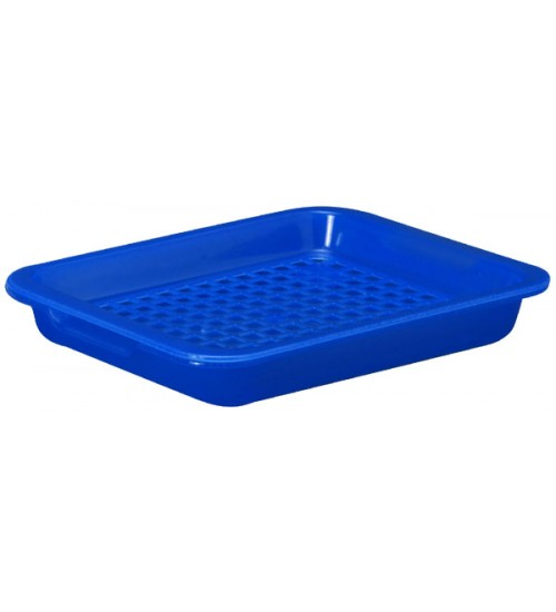 Colorful plastic tray with cup holder with handle/plastic serving tray with handle #55020000000000