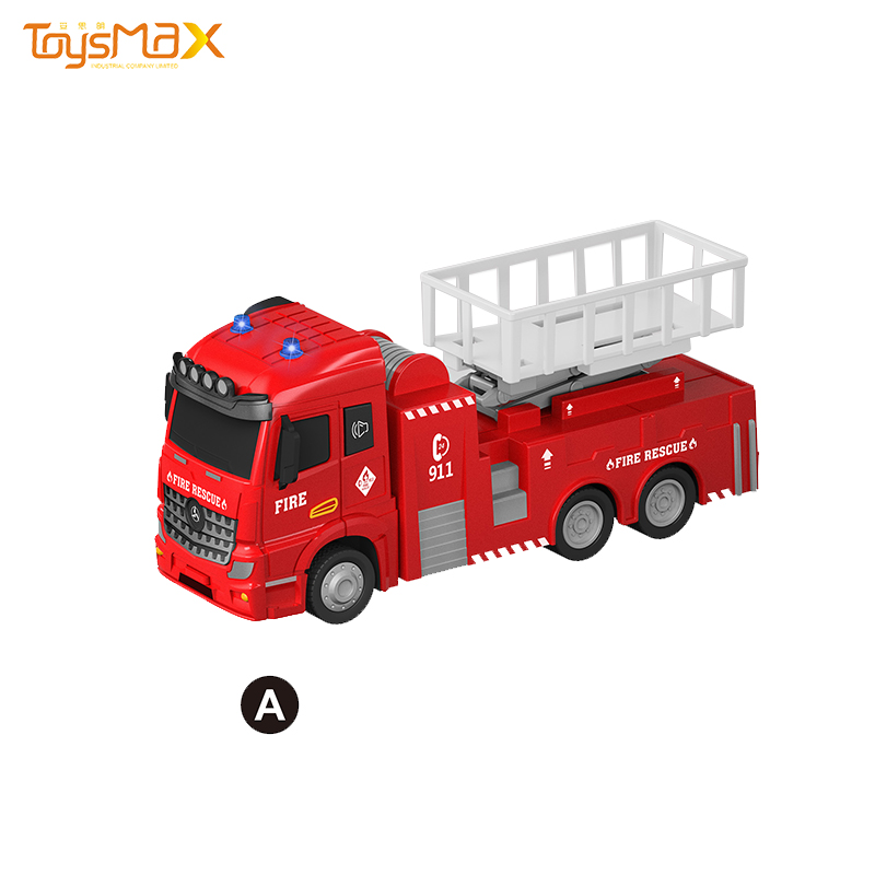 Europe style 1:46 Scale 2019 New Popular Pull Back Alloy Fire Truck Toys Battery operated Die Cast Model Truck