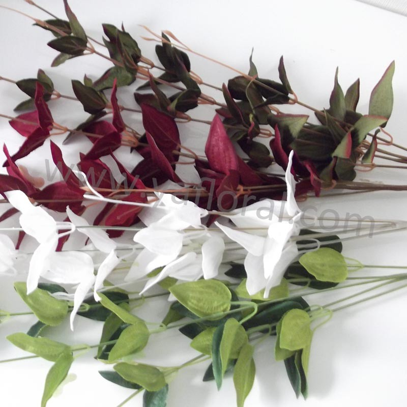 Artificial silk leaves selling fake leaves artificial orchid leaves bulk