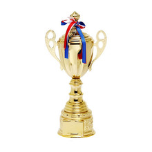 Customize luxury metal trophy cup with cover for hockey basketball or other sports
