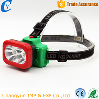 China Colorful 2 LED Bulb Flashlight Fashion Cheap 2 Modes Headlamp