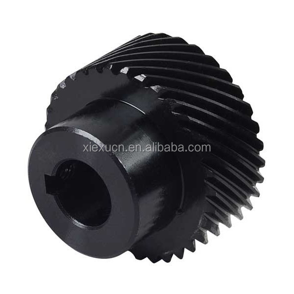 Plastic Nylon /POM /Derin Black 45 Degree Helical Gear Custom Manufacturer