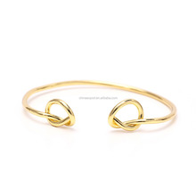 2017 New Model Thin Round Shape Designs Rose Gold Bangle