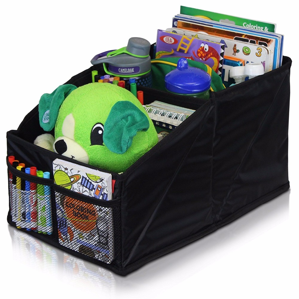 Front or Backseat Organizer Great for Adults & Kids Featuring 8 Storage Compartments, Car Storage Bag, Car Seat Organizer