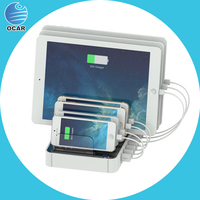2015 popular and convenient 7 port charging station for smartphone tablet ipad