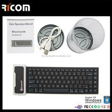 Portable Silicon Gel Keyboard Bluetooth with Soft Folding Silicone Rubber Bluetooth Keyboard for iPad---SKB-212