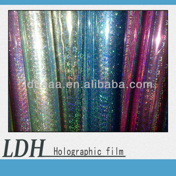 High transparent PVC/ PET/ OPP Holographic Film with good quality