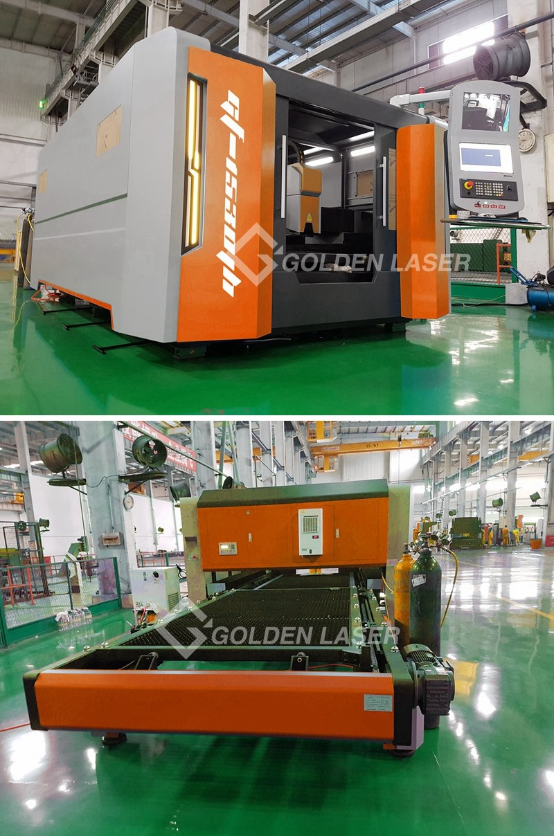 Fiber Laser Cutting Machine GF-1530JH in Customer Factory