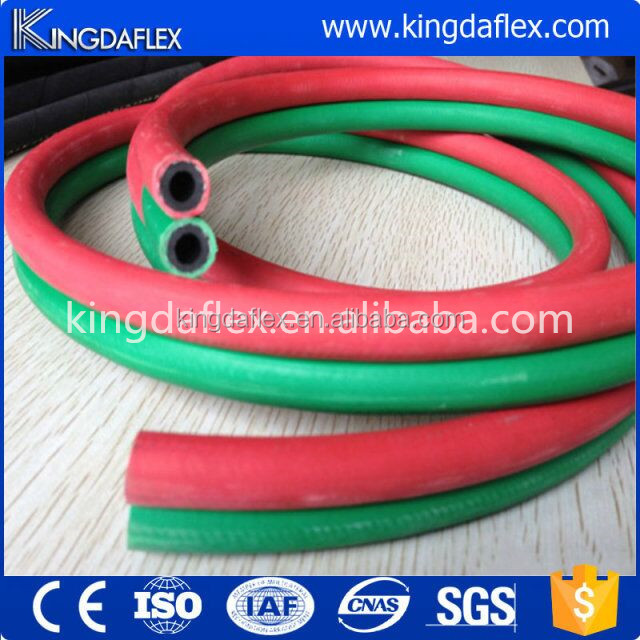 Rubber Hose Smooth Cover Flexible 5/16'' Twin Line Welding Hose