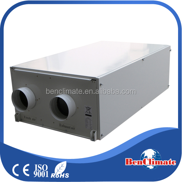 Home heating energy recovery ventilation HVAC system