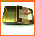 Square tin box for package
