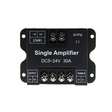 high power 360w 720w dc12v dc24v 30a led strip repeater controller dimmer dimming rgb power rf amplifier
