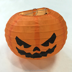 Pumpkin Shape Halloween Nylon Silk Lantern