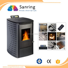 cast iron freestanding 6 kw mini heating wood pellet stove