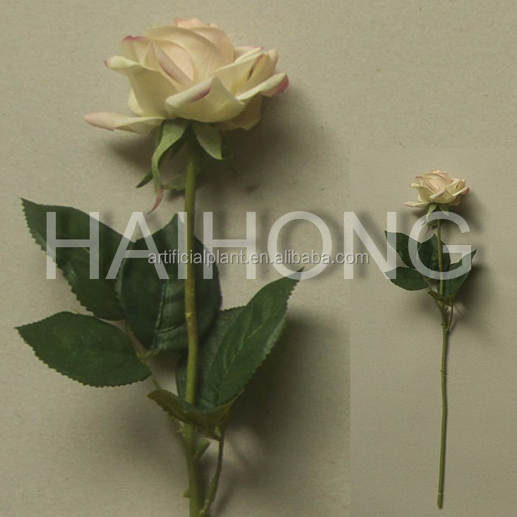 artificial single high natural touch rose flower for wedding decoration
