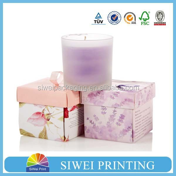 custom round candle box/packaging box round candle box/candle packaging boxes