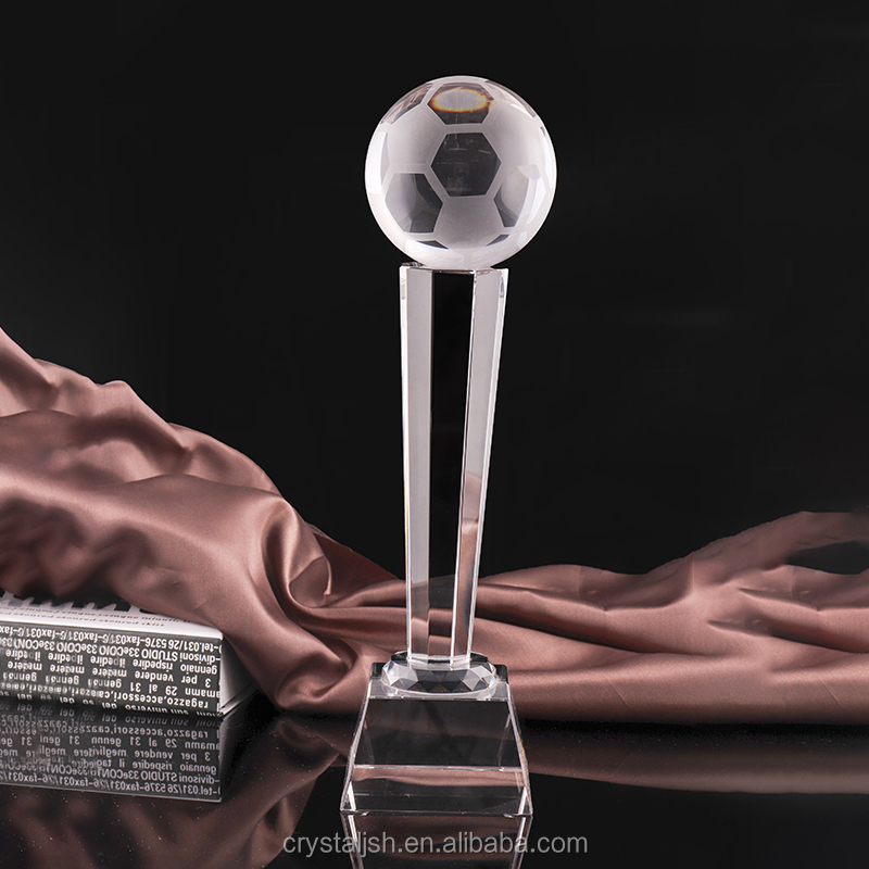 Customized Crystal World Cup Trophy Corporate Award