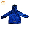 hot sales waterproof PU rain jacket kid's reflective rain jacket