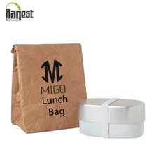 Eco- Friendly Logo Printed Promotional Waterproof Tyvek Cooler Bag