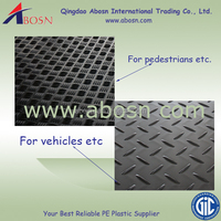 hdpe temporary floor protection mats/heavy duty access mat /hdpe crane mat