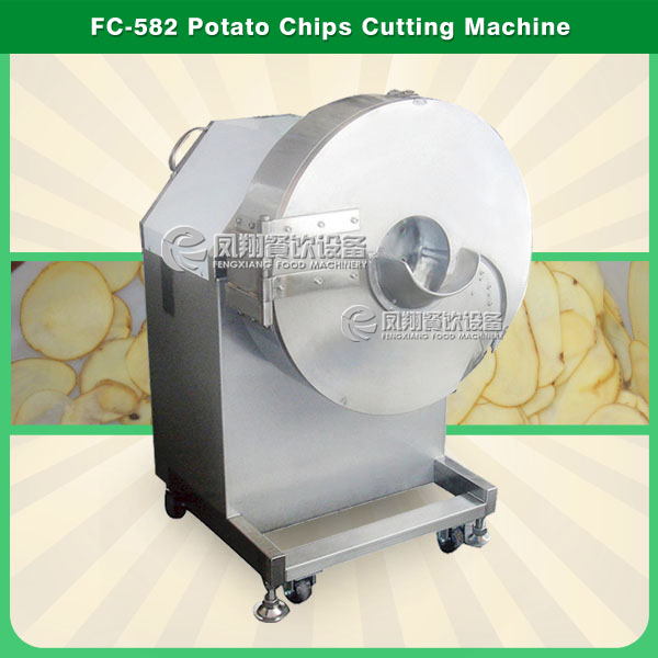 FC-582 industrial potato chips cutting machine Potato chip slicer Bnana chips cutter