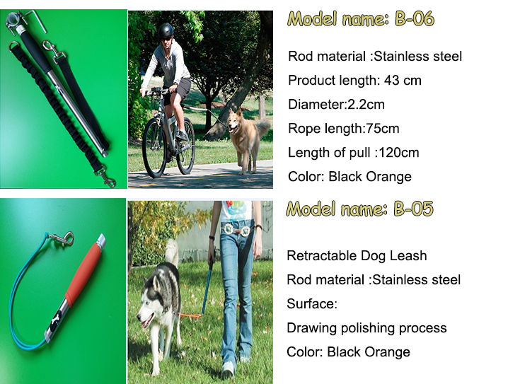 Dog Bicycle Leash for Dog Bike Exerciser hands free running dog leash