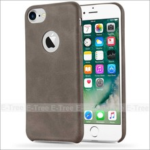 High quality retro synthetic soft fiber leather mobile phone case for iphone 7 plus