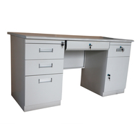 Hot sale office desk with drawers and door steel computer table
