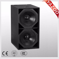 YAZOO double 18inch S-218+ 1200W high power professional passive subwoofer