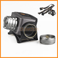 Zoomable 1800lm 3 Mode SOS Huting Cycling Camping AAA Or 18650 Rechargeable Headlamp