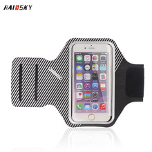 HAISSKY jogging sport running armband 5.5 inch Lycra Armband case for iPhone 7/ 7plus ,6 /6 plus
