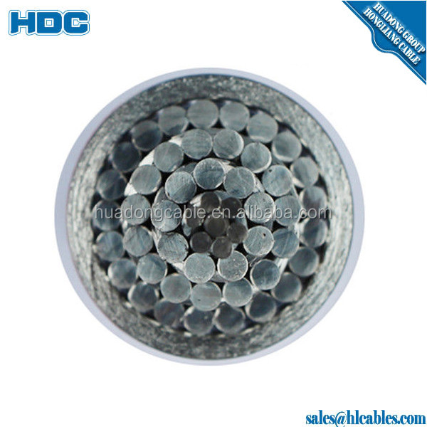 EHS galvanized steel wire ASTM 475 ClassA Ground Wire 4/0 3/8 inch Guy galvanized steel wire cable