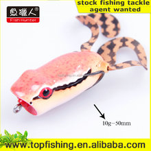 wide double hook MF5S-RO1F China fishing shop popper frog