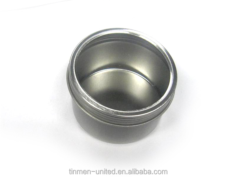custom printed round metal packaging tin with screw top