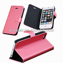 For iphone 5 Cases,For Iphone5 5S Phone Case For iPhone 5 Leather Flip Case Cute Pink Back Cover