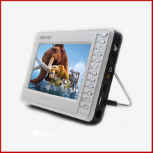 "7"" LCD portable TV with DAB+ radio, support DVB-T2 HEVC H.265/H.264, and with built-in lithium battery"