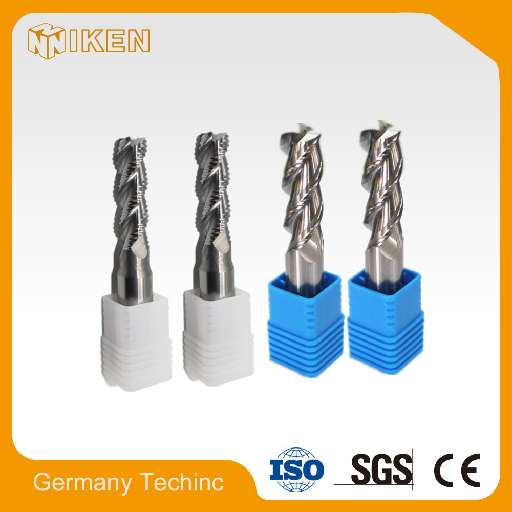 High hardness HRC60 solid carbide 4Flutes coated roughing end mill tool cutters