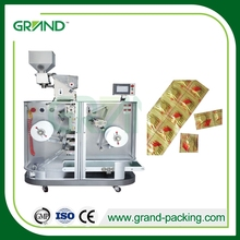 electric driven pharmaceutical medicament packing machine double alu packer