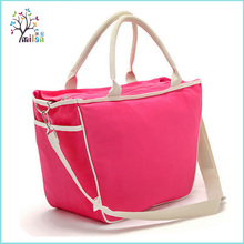 China manufacturer promotion portable canvas baby mummy bag