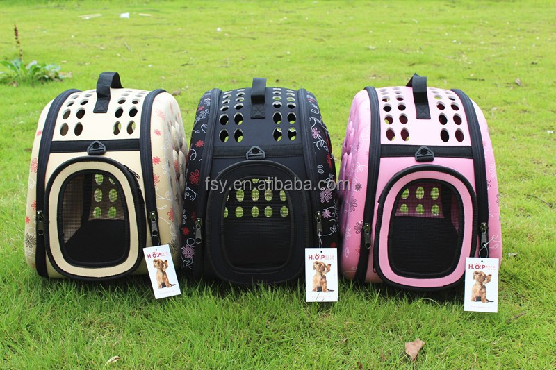 china suppliers foldable pet carriers EVA dog crate