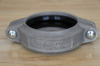 FM UL ISO approved Ductile Iron grooved Pipe fitting 2 1/2*1 cap with concentric hole