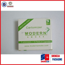 Modern gloss lamination cigarette box packaging printing with your logo