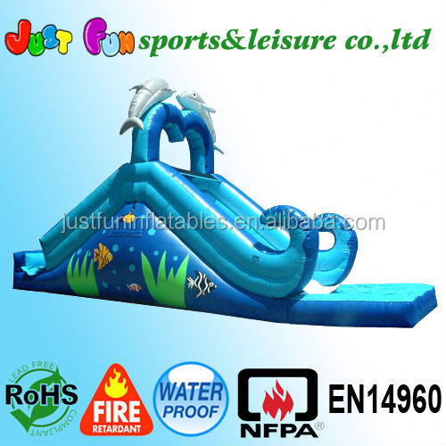 dolphin inflatable water slide, kids water slide for sale