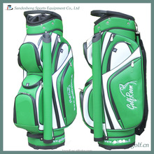 green pu golf cart bag